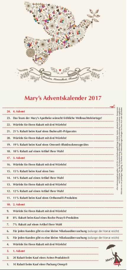 Unser Mary's Adventskalender